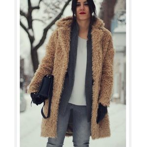 Zara furry long coat